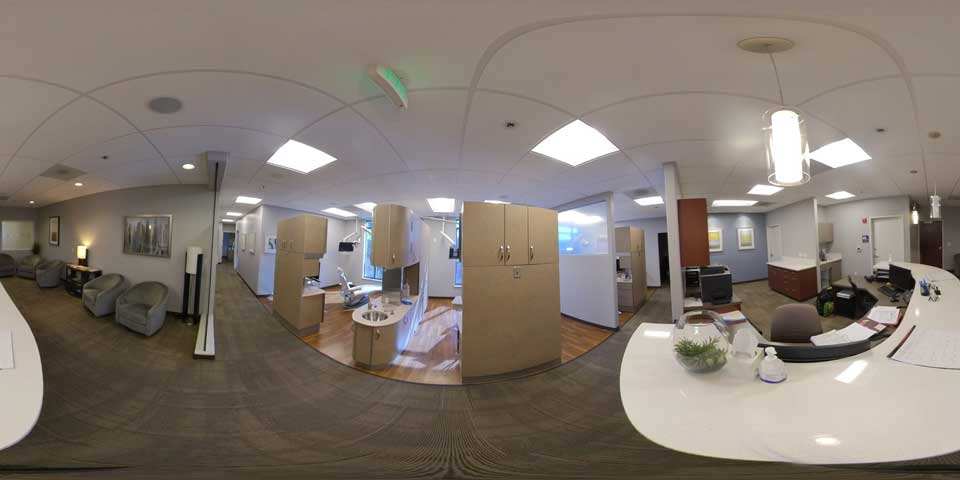 360 view of bobby area at Beaverton office of Periodontal Associates