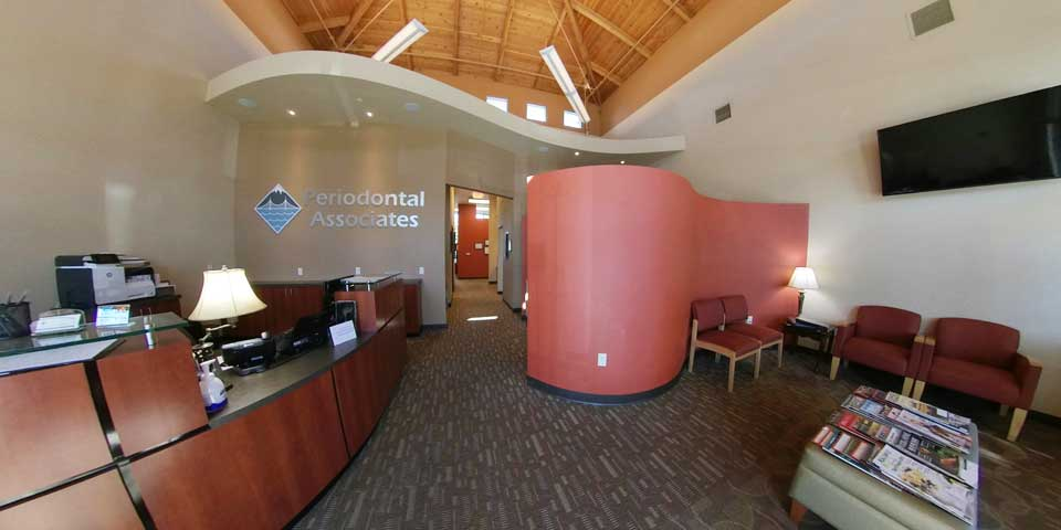 360 view of Lobby area at Periodontal Associates